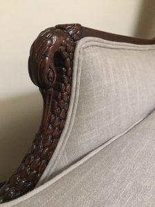 Antique mahogany chair ornate restoration